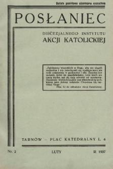 Posłaniec Diecezjalnego Instytutu Akcji Katolickiej. 1937, nr2