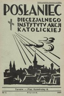 Posłaniec Diecezjalnego Instytutu Akcji Katolickiej. 1939, nr1