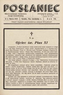 Posłaniec Diecezjalnego Instytutu Akcji Katolickiej. 1939, nr3