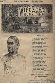 Wieczory Rodzinne. R. 7, 1885, nr1
