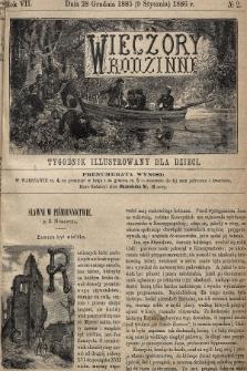 Wieczory Rodzinne : tygodnik illustrowany dla dzieci. R. 7, 1885, nr2