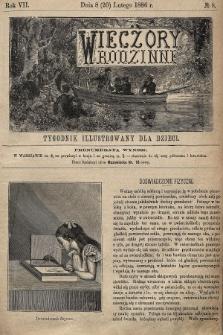 Wieczory Rodzinne : tygodnik illustrowany dla dzieci. R. 7, 1886, nr8