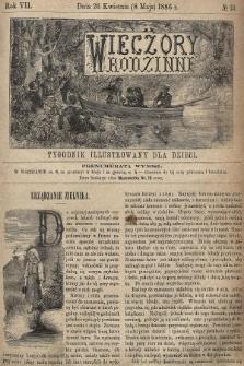 Wieczory Rodzinne : tygodnik illustrowany dla dzieci. R. 7, 1886, nr19