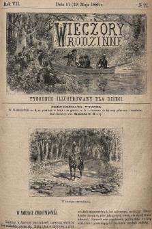Wieczory Rodzinne : tygodnik illustrowany dla dzieci. R. 7, 1886, nr22