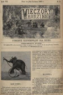 Wieczory Rodzinne : tygodnik illustrowany dla dzieci. R. 7, 1886, nr26