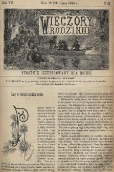 Wieczory Rodzinne : tygodnik illustrowany dla dzieci. R. 7, 1886, nr31