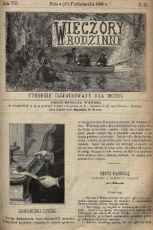 Wieczory Rodzinne : tygodnik illustrowany dla dzieci. R. 7, 1886, nr42