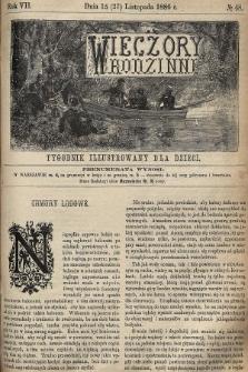 Wieczory Rodzinne : tygodnik illustrowany dla dzieci. R. 7, 1886, nr48