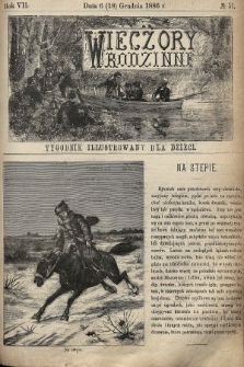 Wieczory Rodzinne : tygodnik illustrowany dla dzieci. R. 7, 1886, nr51