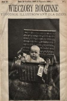 Wieczory Rodzinne : tygodnik illustrowany dla dzieci. R. 11, 1889/1890 [całość]