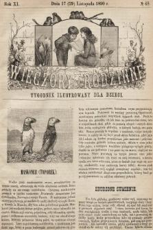 Wieczory Rodzinne : tygodnik ilustrowany dla dzieci. R. 11, 1890, nr48