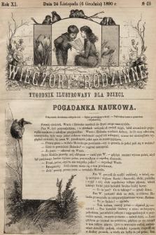 Wieczory Rodzinne : tygodnik ilustrowany dla dzieci. R. 11, 1890, nr49