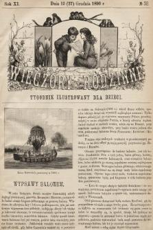 Wieczory Rodzinne : tygodnik ilustrowany dla dzieci. R. 11, 1890, nr52