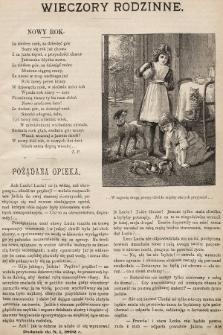Wieczory Rodzinne : tygodnik ilustrowany dla dzieci. 1892, nr1