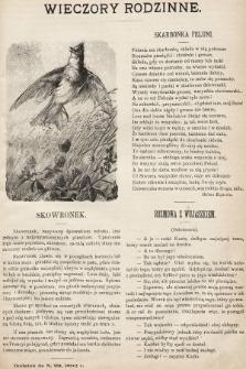 Wieczory Rodzinne : tygodnik ilustrowany dla dzieci. 1892, nr29