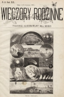 Wieczory Rodzinne : tygodnik illustrowany dla dzieci. R. 19, 1898, nr51