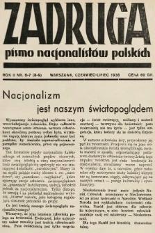 Zadruga : pismo nacjonalistów polskich. 1938, nr6-7