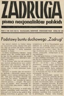 Zadruga : pismo nacjonalistów polskich. 1938, nr8-9