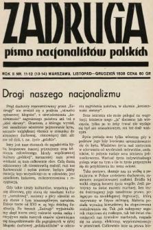 Zadruga : pismo nacjonalistów polskich. 1938, nr11-12