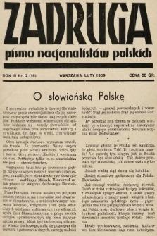 Zadruga : pismo nacjonalistów polskich. 1939, nr2
