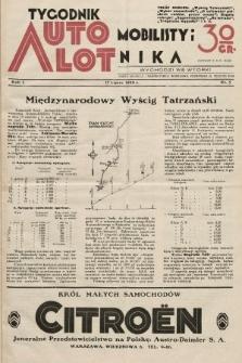 Tygodnik Automobilisty i Lotnika. 1928, nr5