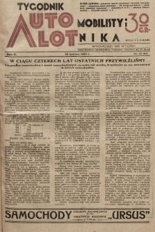Tygodnik Automobilisty i Lotnika. 1929, nr13