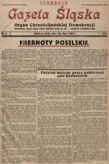 Gazeta Śląska : organ Chrześcijańskiej Demokracji. 1928, nr6