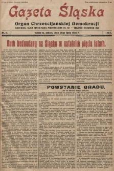 Gazeta Śląska : organ Chrześcijańskiej Demokracji. 1928, nr11