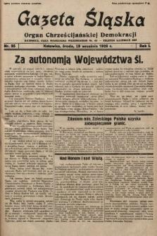 Gazeta Śląska : organ Chrześcijańskiej Demokracji. 1928, nr25
