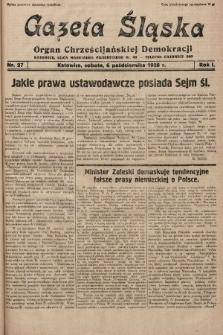 Gazeta Śląska : organ Chrześcijańskiej Demokracji. 1928, nr27