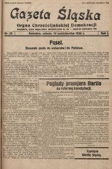 Gazeta Śląska : organ Chrześcijańskiej Demokracji. 1928, nr29