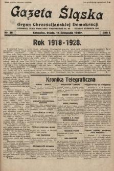 Gazeta Śląska : organ Chrześcijańskiej Demokracji. 1928, nr38