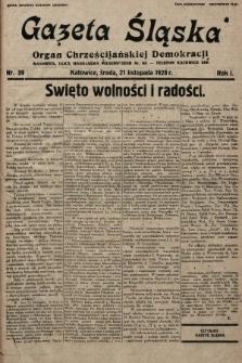 Gazeta Śląska : organ Chrześcijańskiej Demokracji. 1928, nr39