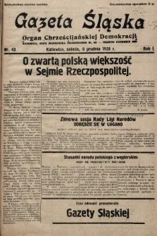 Gazeta Śląska : organ Chrześcijańskiej Demokracji. 1928, nr43
