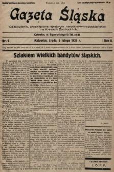 Gazeta Śląska : czasopismo poświęcone sprawom narodowo-chrześcijańskim na Kresach Zachodnich. 1929, nr9