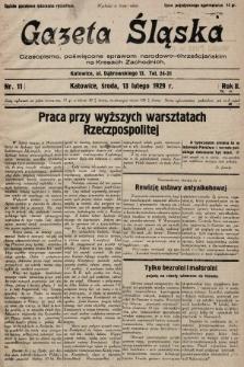 Gazeta Śląska : czasopismo poświęcone sprawom narodowo-chrześcijańskim na Kresach Zachodnich. 1929, nr11