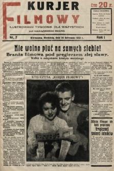 Kurjer Filmowy : ilustrowany tygodnik dla wszystkich. 1929, nr7