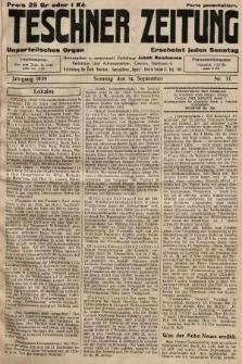 Teschner Zeitung : unparteiisches Organ. 1930, nr37
