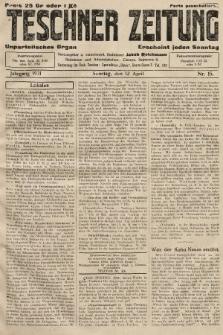 Teschner Zeitung : unparteiisches Organ. 1931, nr15