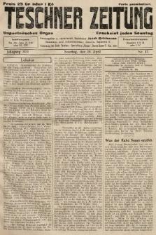 Teschner Zeitung : unparteiisches Organ. 1931, nr17