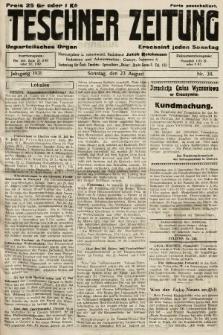 Teschner Zeitung : unparteiisches Organ. 1931, nr34