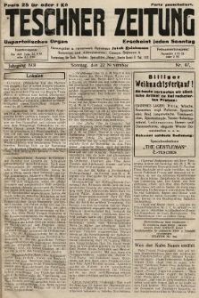 Teschner Zeitung : unparteiisches Organ. 1931, nr47