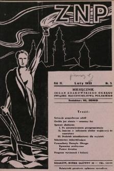 ZNP : organ Krakowskiego Okręgu Związku Nauczycielstwa Polskiego. 1934/1935, nr5