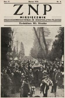 ZNP : organ Krakowskiego Okręgu Związku Nauczycielstwa Polskiego. 1935/1936, nr6