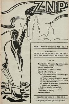 ZNP : organ Krakowskiego Okręgu Związku Nauczycielstwa Polskiego. 1936/1937, nr1-2