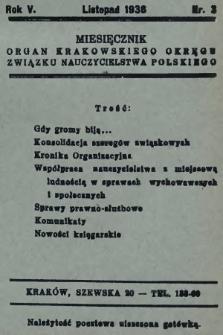 ZNP : organ Krakowskiego Okręgu Związku Nauczycielstwa Polskiego. 1936/1937, nr3
