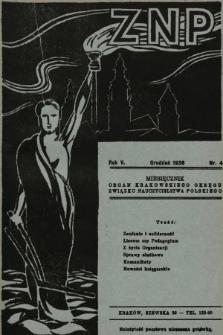 ZNP : organ Krakowskiego Okręgu Związku Nauczycielstwa Polskiego. 1936/1937, nr4