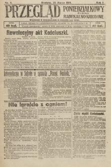 Przegląd Poniedziałkowy : pismo radykalno-narodowe. 1919, nr6
