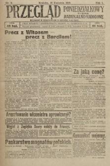 Przegląd Poniedziałkowy : pismo radykalno-narodowe. 1919, nr9
