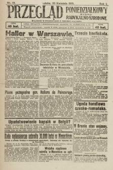 Przegląd Poniedziałkowy : pismo radykalno-narodowe. 1919, nr10